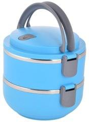 Purpledip Lunch Box with 2 Steel Containers for Office, School|Superior Quality, Easy to carry & clean (10901)