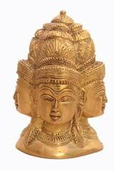Purpledip Rare Collection Brass Statue Mukhalingam - Lord Shiva With Four Faces (10922)