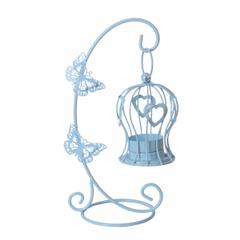 Candle Stand T-light Holder Diwali D�cor Gift: Unique Butterfly-Heart Design (10958)