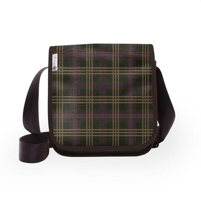 Purple Plaid City Sling Bag
