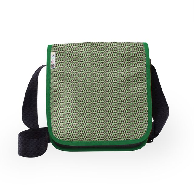 Navy Green Tryst City Sling Bag