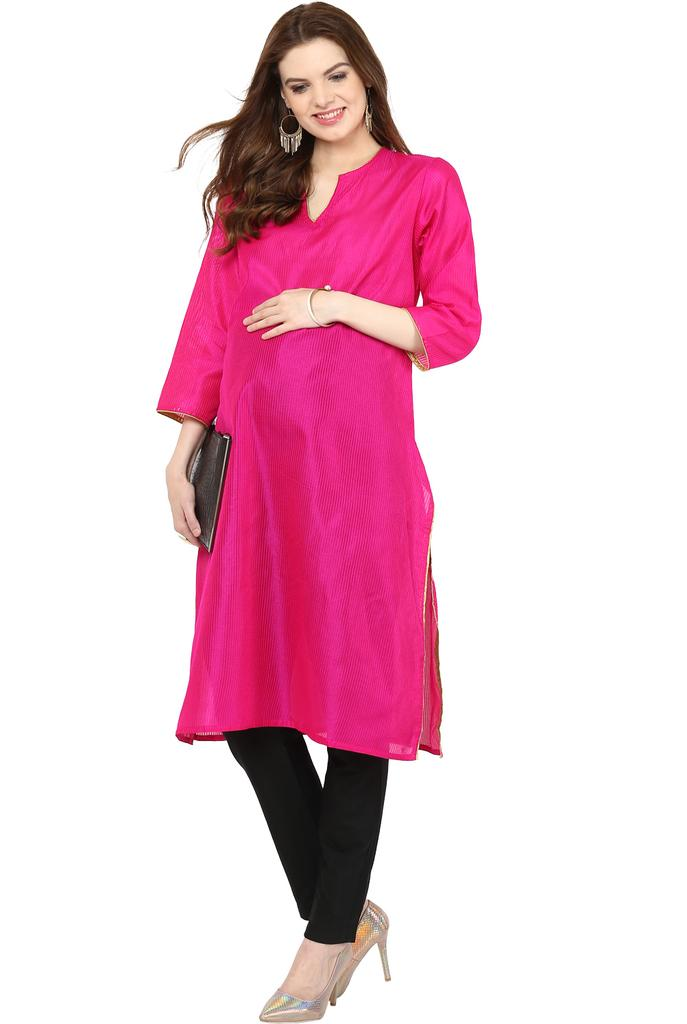 The Kurta Fuschia Pink