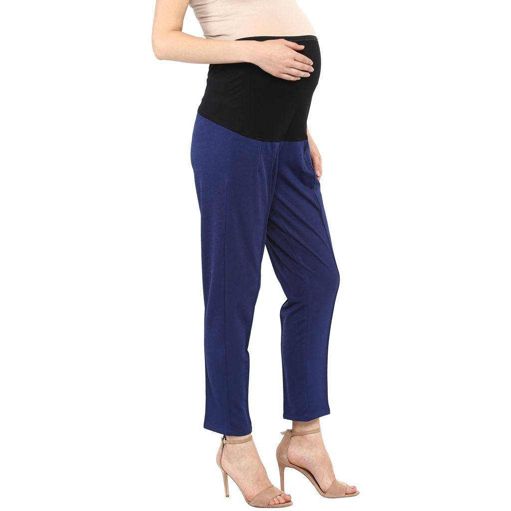 Navy Maternity Pants