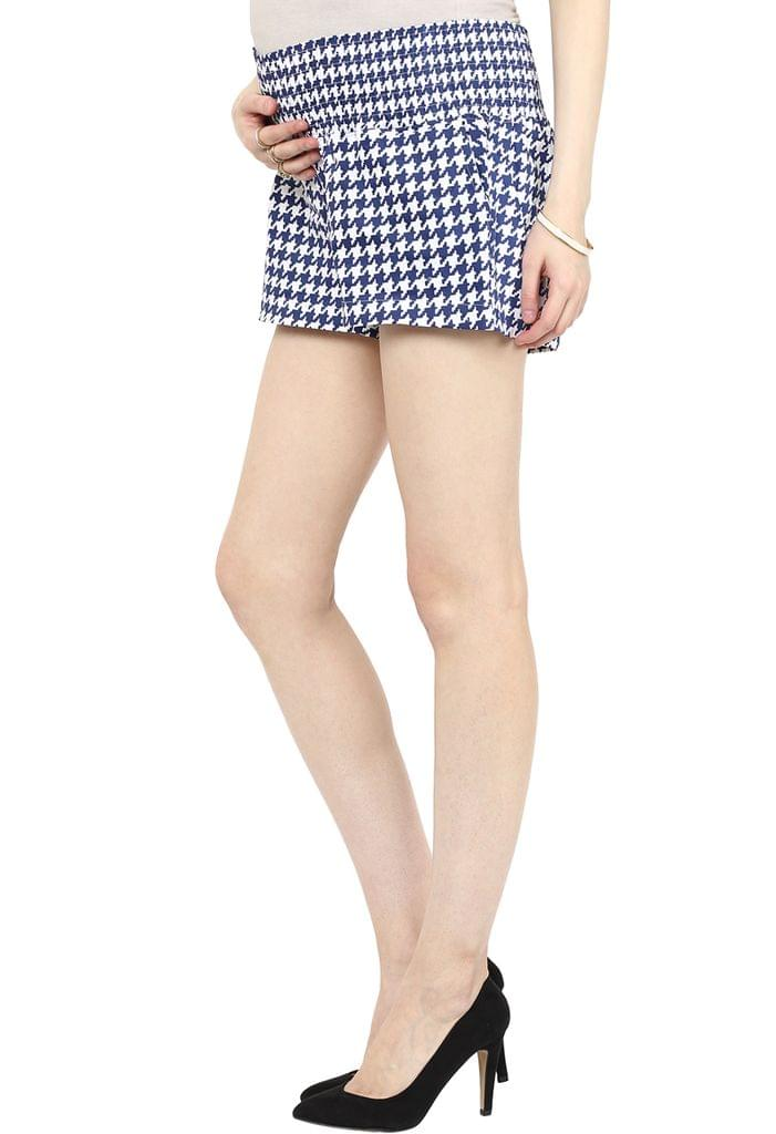 The Houndstooth Maternity Shorts