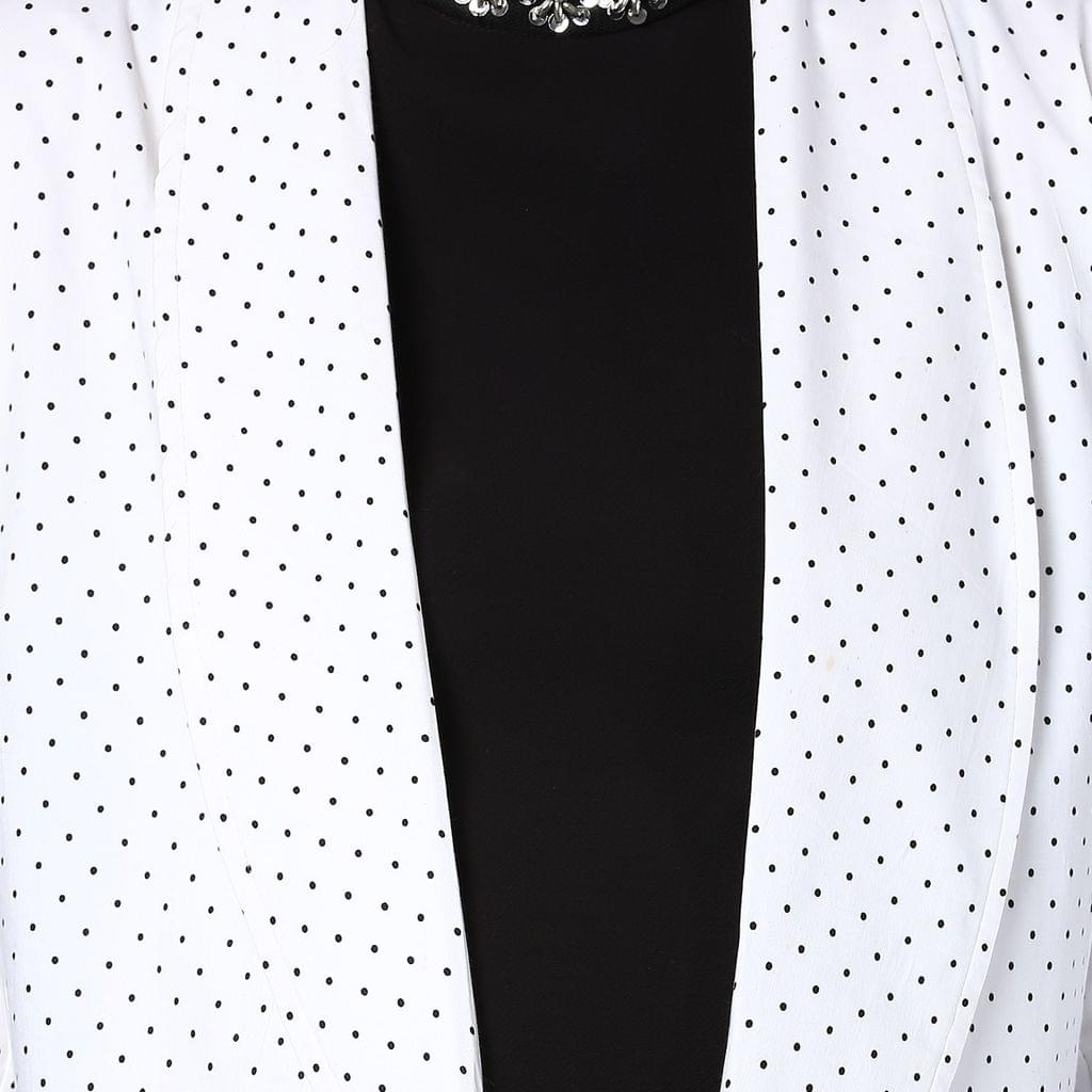 The Day Jacket White and Black Polka