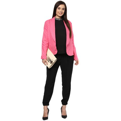 Pink on Pink Polka Dots Maternity Day Jacket