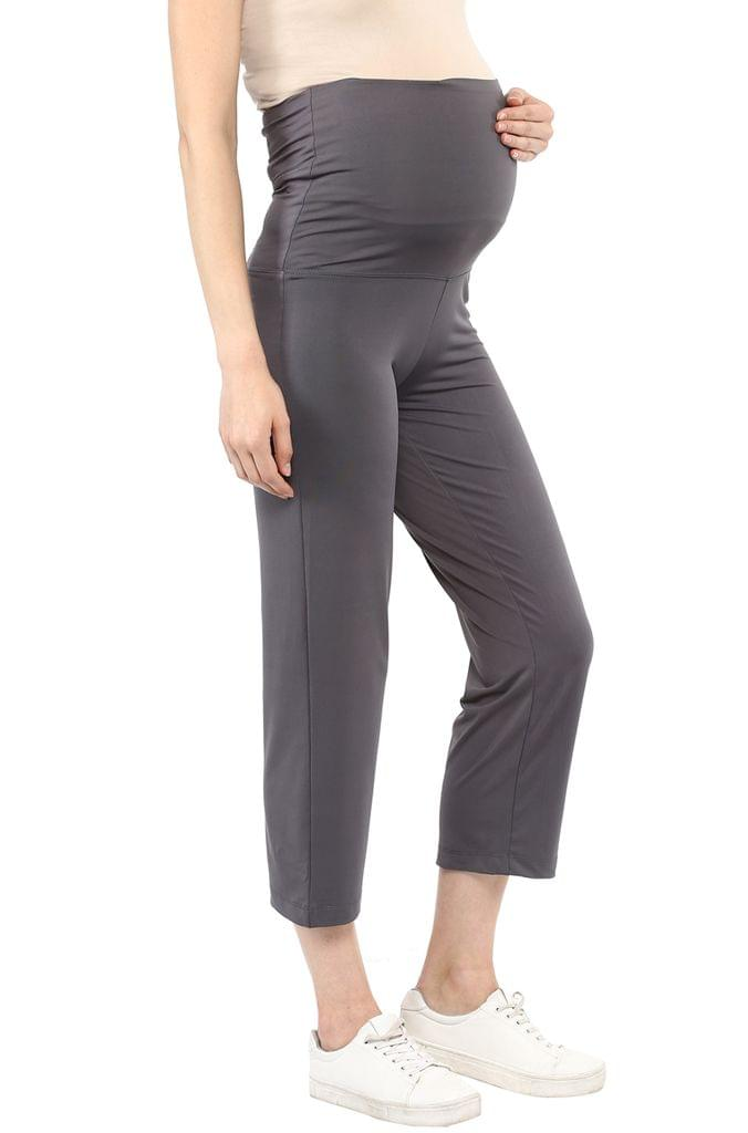 Grey Maternity Foldable Track Pants