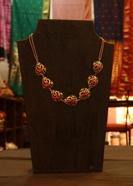 Vintage Silver neckpiece with Gold Plating