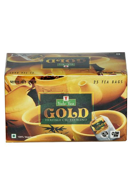 Yule Gold Heritage CTC Blend Tea Bags : 25 units