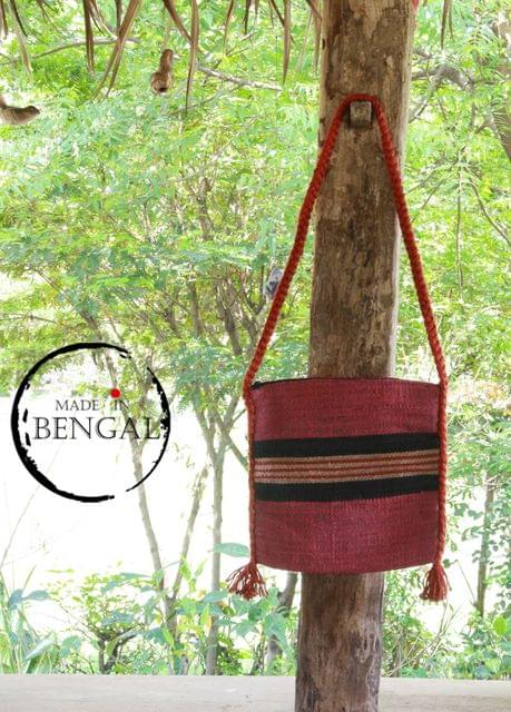 Handwoven Reddish Pink Jute Bag