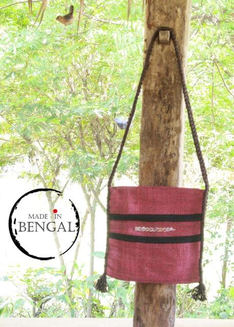 Handwoven Pink Dyed Jute Bag