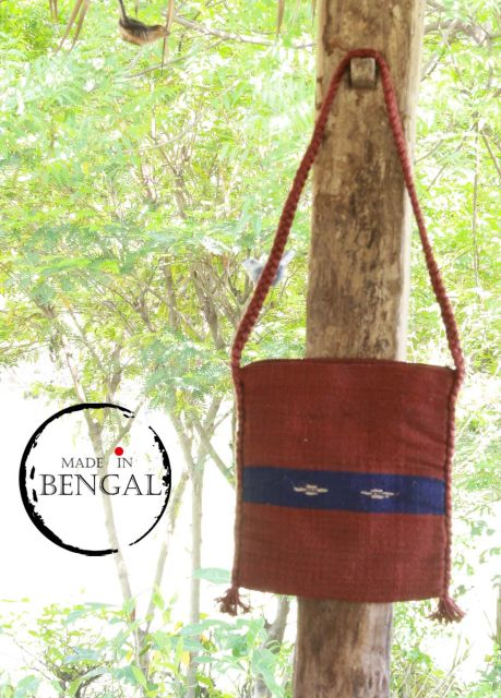 Handwoven Terracota Red Dyed Jute Bag
