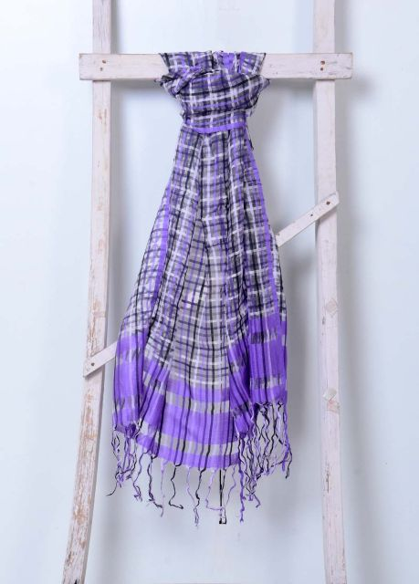 Striped Handwoven Cotton Muslin Stole