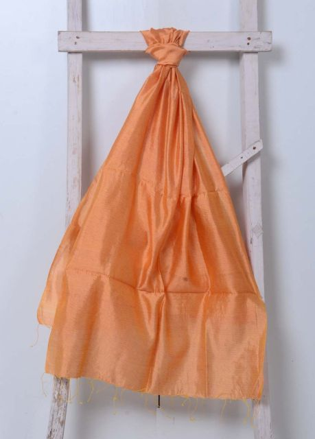 Orange Pure Silk Stole