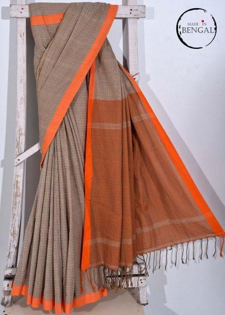 Dhanjhora' styled Handwoven Cotton Saree