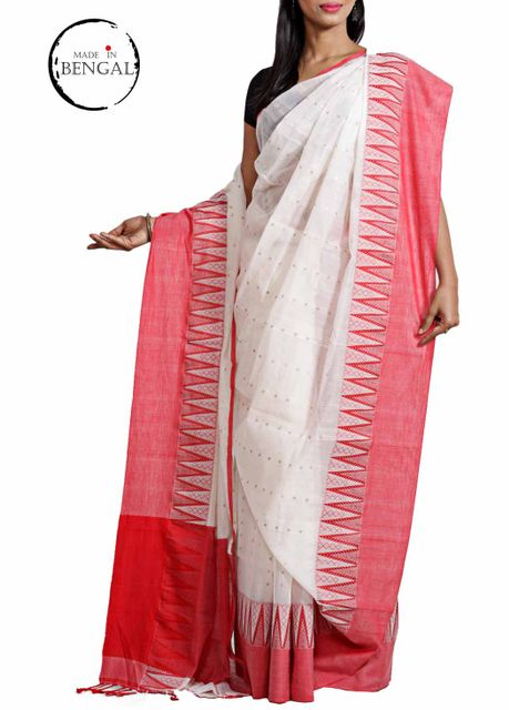 LaalSada Cotton Tara Saree
