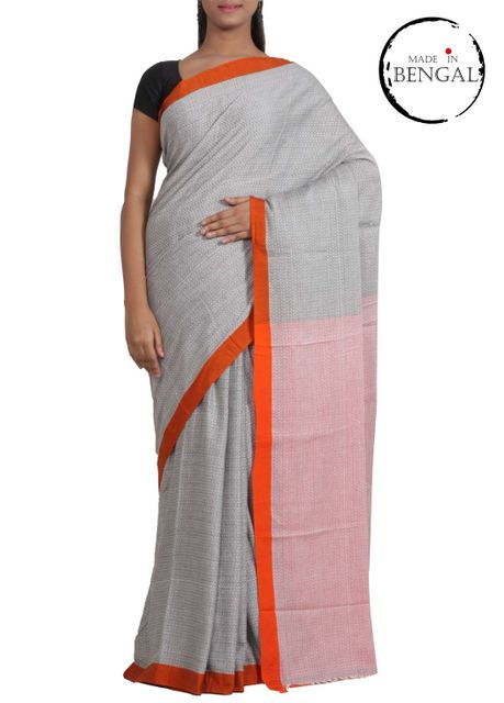 GreyOrange Dhanjhora Cotton Saree
