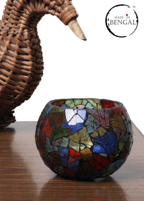 Handcrafted Glass Mosaic Candle Holder
