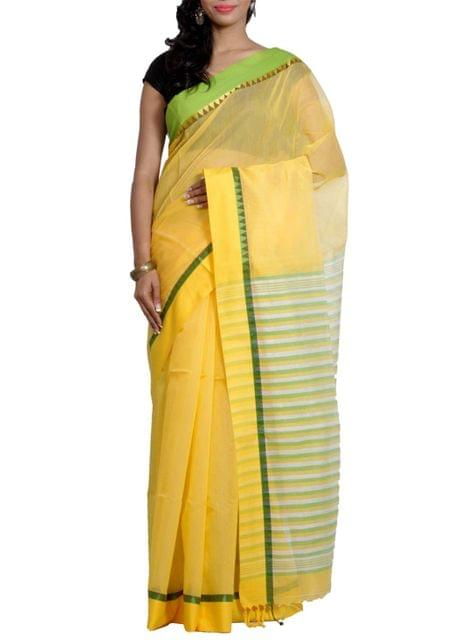 Gaye Holud Saree in Cotton Blend