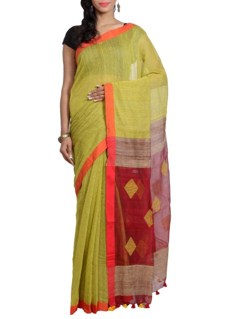 Naksha Mocklino Cotton Handwoven Saree