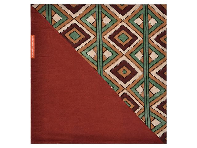 Brown & Green Pocket Square