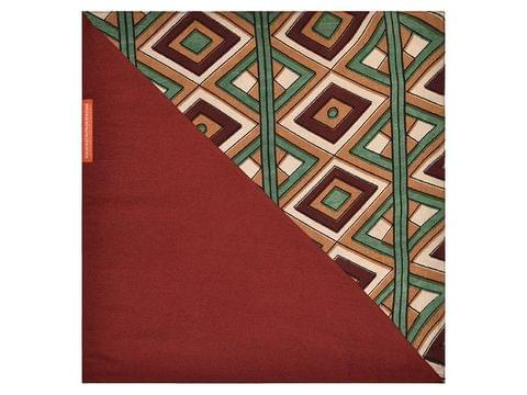 Brown-GreenOrange Pocket Square