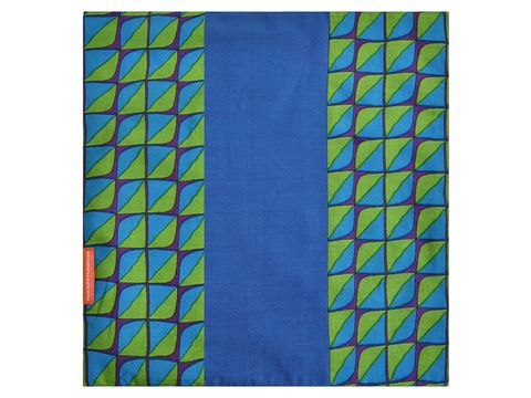 Blue & Green Pocket Square