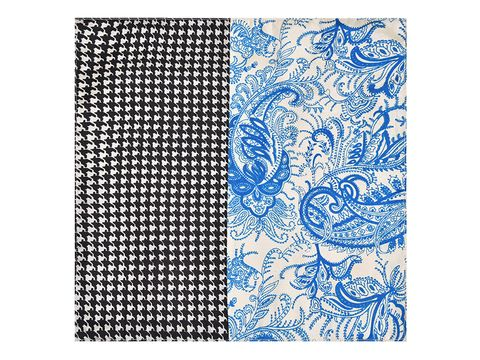 Blue & Black Pocket Square