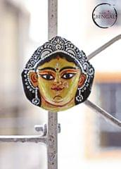 Miniature Chhau Mask Magnets : Lakshmi