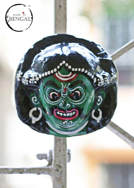 Miniature Chhau Mask Magnets : Mahisasur