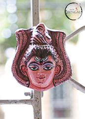 Miniature Chhau Mask Magnets :Shiva