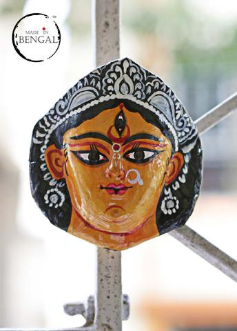 Miniature Chhau Mask Magnets : Durga