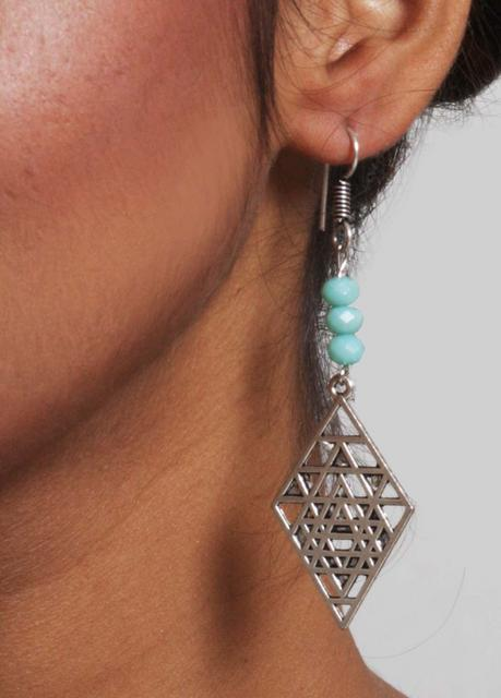 Signed Triangle Earrings
