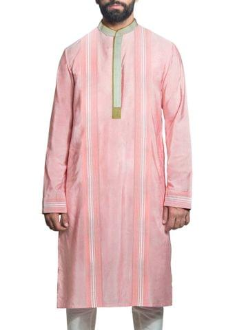 Hand Embroidered Chanderi Kurta