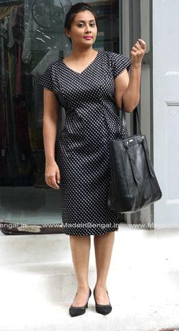 Black Polka Semi Formal Dress