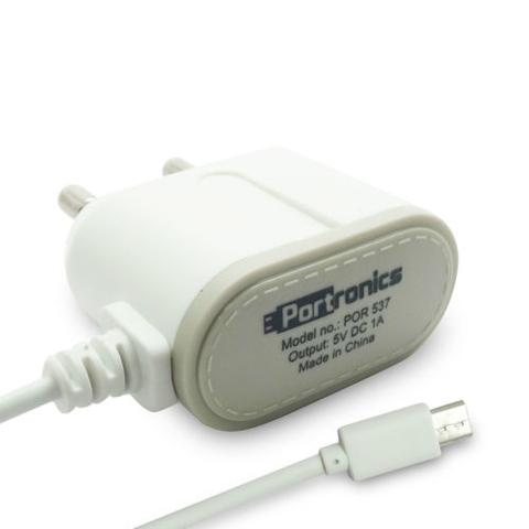 Portronics 1A/5V Adapter with Micro USB Cable
