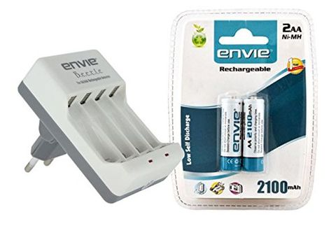 Envie AA AAA Battery Charger And 2 Nos Of AA 2100 Ni-mH Rechargeable batteries