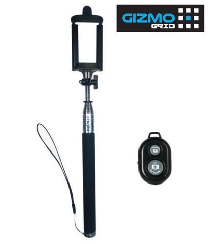 Digitek PRO-GRADE, Multi-Function Selfie Stick POD DBST-002, w Bluetooth Wireless Remote for Apple iPhone, iPad, iPod, Android Mobile [random color will be shipped] ( GizmoGrid )