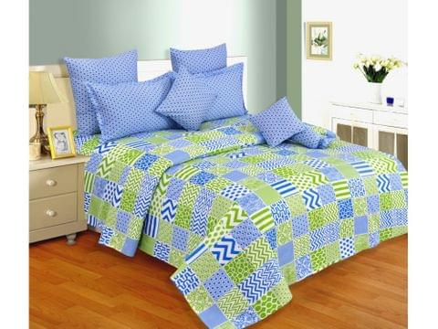 Salona Bichona 100% Cotton Double Bedsheet with Two Pillow Covers 01