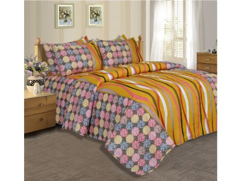 Salona Bichona Double Bedsheet with Two Pillow Covers 02