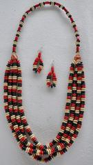 WOOD BEAD JEWELLERY SET