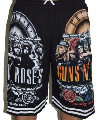 Guns n Roses Premium Shorts - Free Size (28 inches to 46 inches)