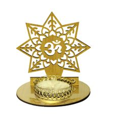 Aum Star Tea Light in MDF