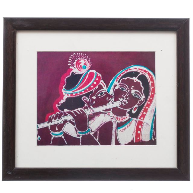 Radha Krishna Bathik Painting - Replica