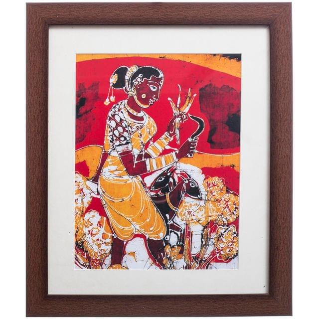 Women with Goats Bathik Painting - Replica