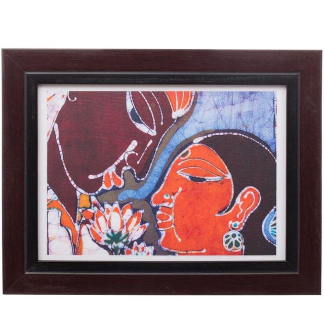 Man and Woman with Flowers Bathik Painting - Replica