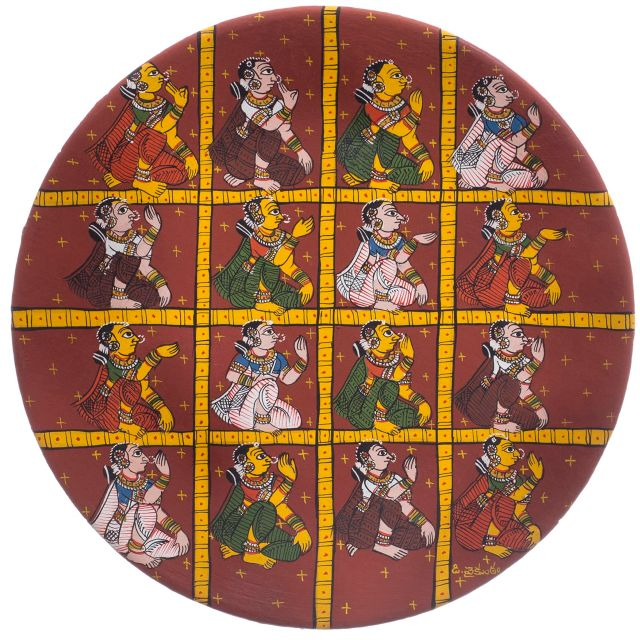 Ethinic Village Women - Cherial Scroll Painting