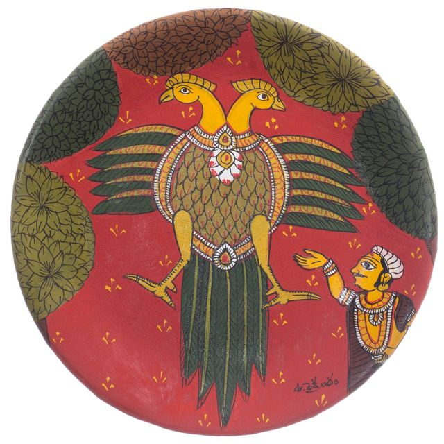 Dual Head Eagle - Cherial Scroll Painting