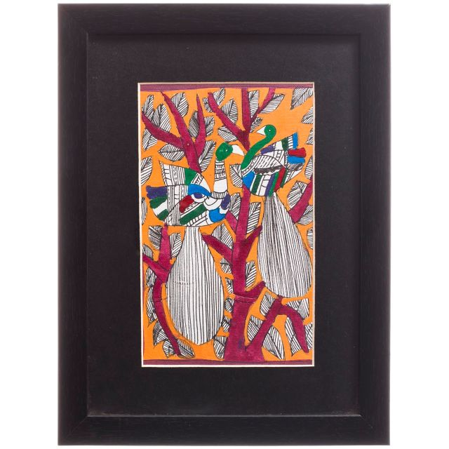 Two Peacocks on a Tree