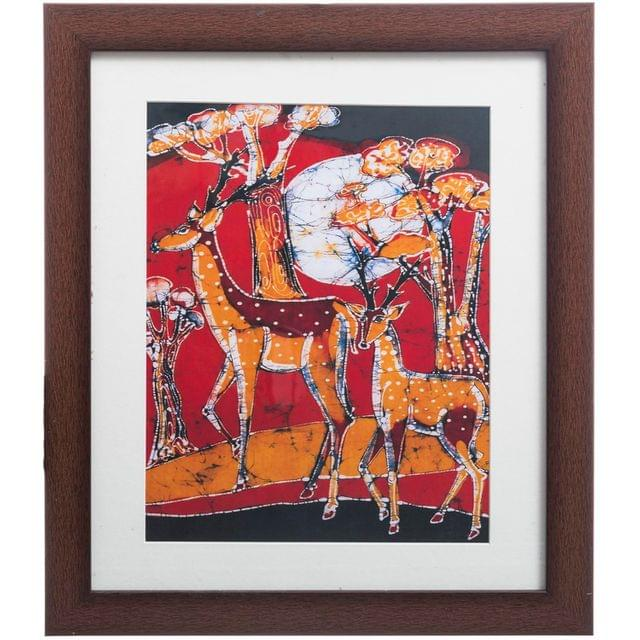 Deers Bathik Painting - Replica